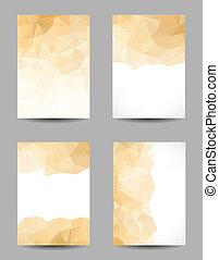 abstrakt, bakgrunder, trianglar