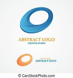 abstrakt, begriff, kreativ, vektor, design, logo, element.