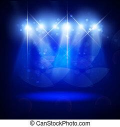 abstrakt, belysning, avbild, konsert