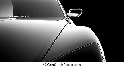 abstrakt, bil, modell