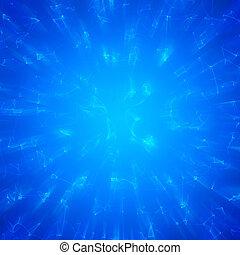 abstrakt, blå, energi, bakgrund