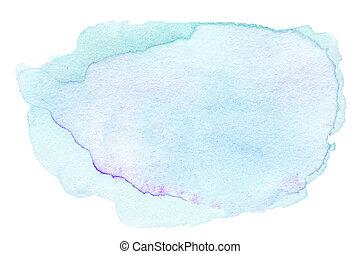 abstrakt, blå, färg