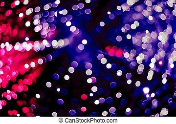 abstrakt, blå, röd, och, violett, cirkulär, bokeh, bakgrund