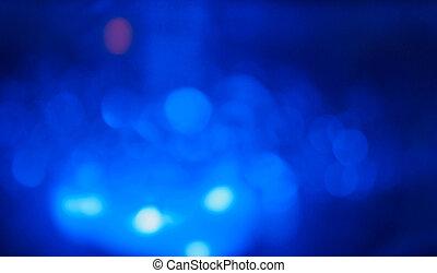 abstrakt, blå, vit, bokeh, cirklarna, bakgrund