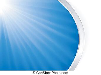 abstrakt, blåa lätta, brista, med, silver