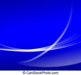 abstrakt, blauer hintergrund, tapete, mit, kurve, glitzer, und, steigung