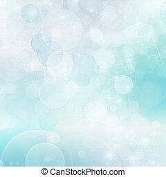abstrakt, blaues, bokeh, hintergrund
