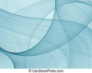 abstrakt, blaues, muster