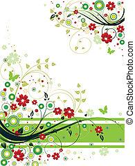 abstrakt, blommig, bakgrund