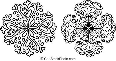 abstrakt, blommig, form