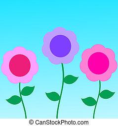 abstrakt, blomningen, bakgrund