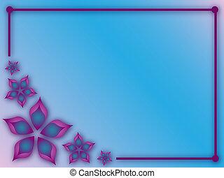 abstrakt, blomningen, ram