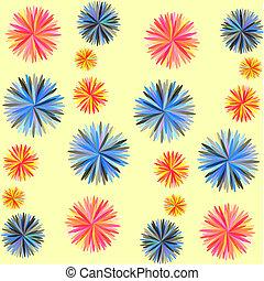 abstrakt, blomningen