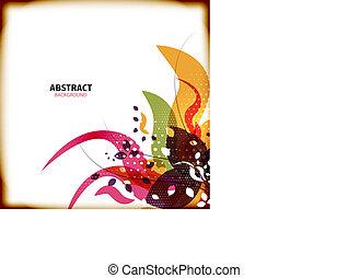 abstrakt, blomst, baggrunde, farverig