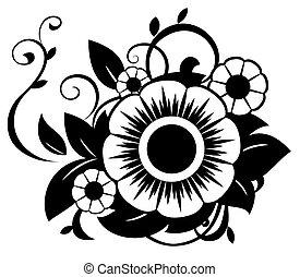 abstrakt, blomster, 5, illustration
