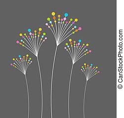 abstrakt, blomster