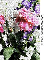 abstrakt, blomster, sommer, backgroung