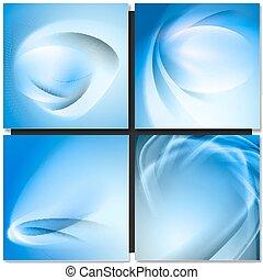 Abstrakt blue background - Abstrakt blue wave swirl...