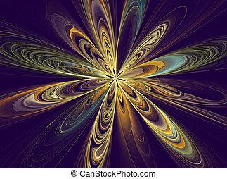 abstrakt, blume, fractal