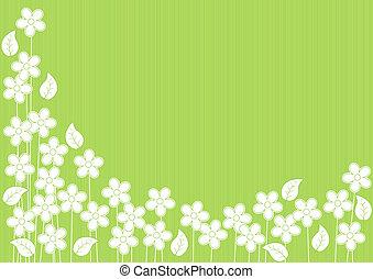 abstrakt, blumen, grüner hintergrund