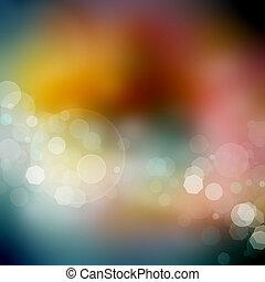 abstrakt, bokeh, lichter, hintergrund