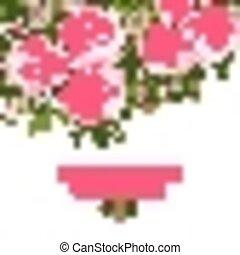 abstrakt, bröllop, bakgrund., inbjudan, blommig, eller, kort