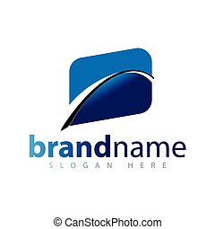 abstrakt, bro, logo, ikon, vektor