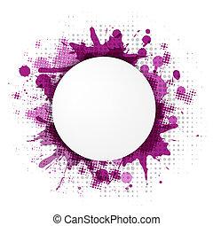 abstrakt, bubbla, droppar, violett