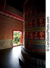 abstrakt, buddhistischer tempel