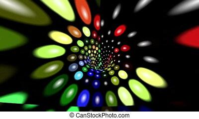 abstrakt, bunte, punkte, tunnel