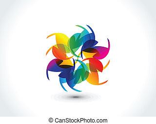abstrakt, bunte, regenbogen, form
