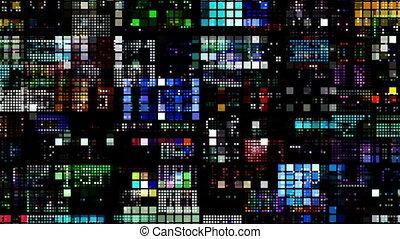 abstrakt, bunter , muster, von, leuchtdiode, licht,...