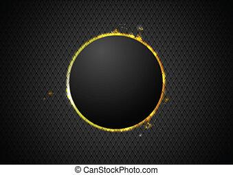 abstrakt, cirkel, baggrund, glød