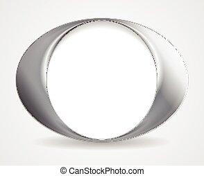 abstrakt, cirkel, o, facon, logo, konstruktion