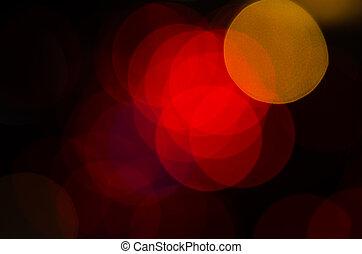 abstrakt, cirkulär, bokeh, bakgrund