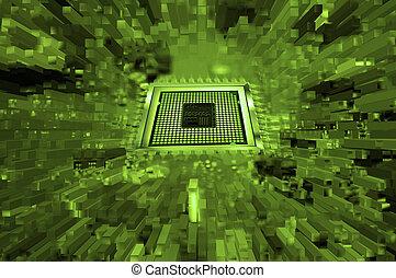 abstrakt, computerchip