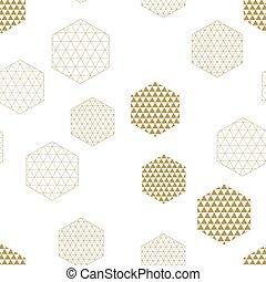 abstrakt, dekorativ, seamless, sechsecke, zusammensetzung, pattern., geometrisch