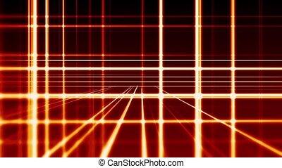 abstrakt, digital, senkrecht waagerecht, rotes , linien, hintergrund, seamless, schleife, bereit, animation, hd