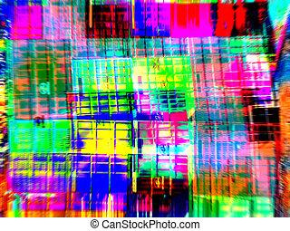 abstrakt, digitale kunst