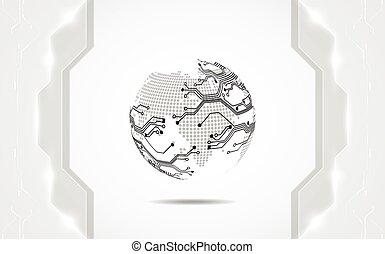 abstrakt, digitale technologie, concept., vektor, hintergrund