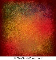 abstrakt, dreckige , beschaffenheit, rotes