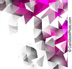 abstrakt, dreieckig, hintergrund