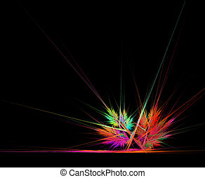 abstrakt, ecke, leuchtsignal