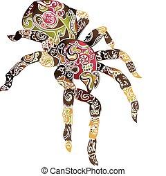 abstrakt, edderkop