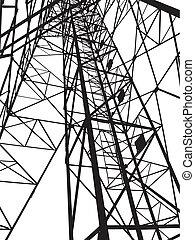 abstrakt, elektriskt stå hög