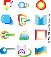 abstrakt, elemente, design