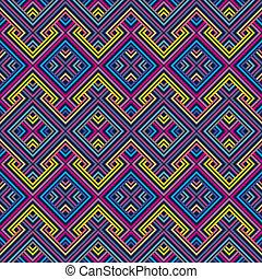 abstrakt, ethnisch, seamless, geometrisch