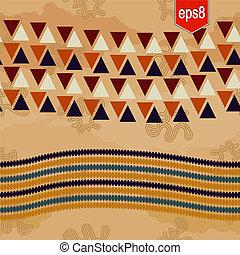 abstrakt, etnisk, mönster