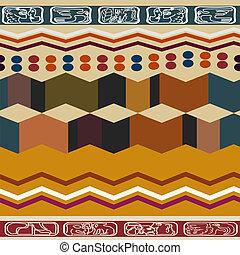 abstrakt, etnisk, seamless, struktur