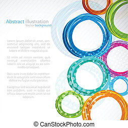 abstrakt, färgglatt, cirkel